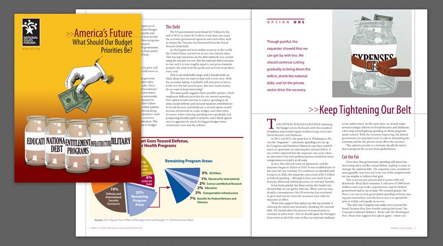 NIF Budget Publication Design