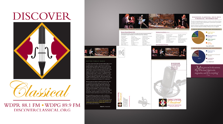Discover Classical Annual Report Design